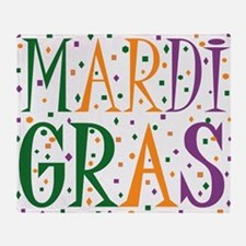 MARDI GRAS Throw Blanket