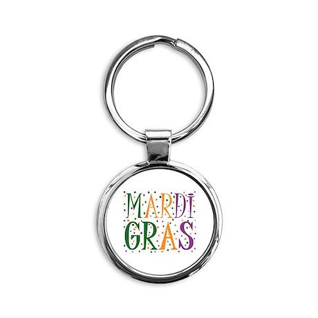 MARDI GRAS Round Keychain