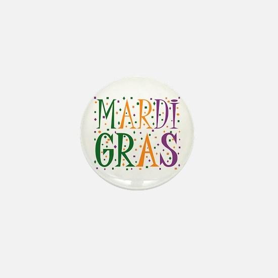 MARDI GRAS Mini Button