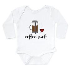Coffee Snob Long Sleeve Infant Bodysuit