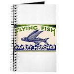 Antique Flying Fish Swedish Matchbox Label Green J