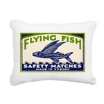 Antique Flying Fish Swedish Matchbox Label Green R