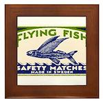 Antique Flying Fish Swedish Matchbox Label Green F