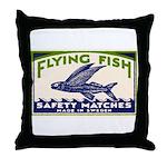 Antique Flying Fish Swedish Matchbox Label Green T