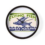 Antique Flying Fish Swedish Matchbox Label Green W