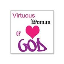 "Vituous Square Sticker 3"" x 3"""