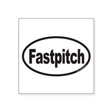 Fastpitch Euro Oval Sticker