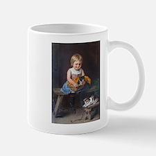 Little Girl An Kittens Mug