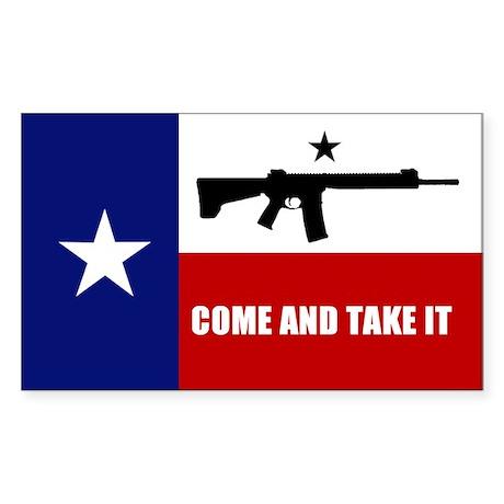Come and Take It Sticker (Rectangle 50 pk)