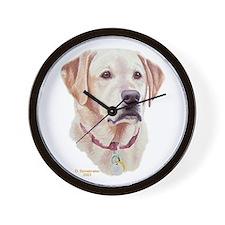 Sophie Yellow Labrador Wall Clock