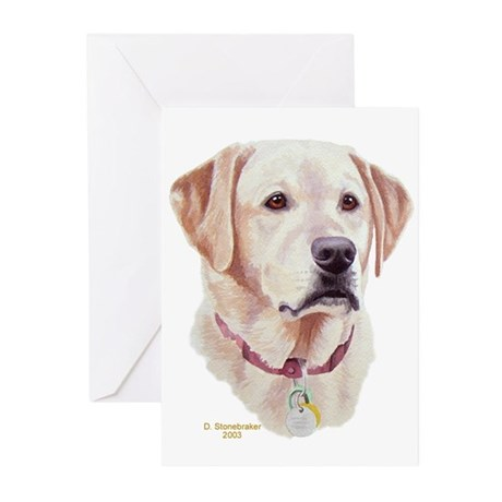 Sophie Yellow Lab Greeting Cards (6)