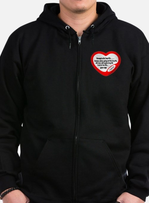 My Life With You-Michel Legrand Zip Hoodie