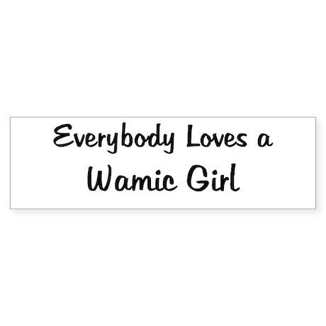 Wamic Girl Bumper Sticker