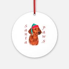 Santa Paws Redbone Ornament (Round)