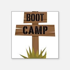 "Boot Camp Square Sticker 3"" x 3"""