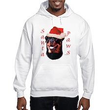 Santa Paws Rottweiler Hoodie