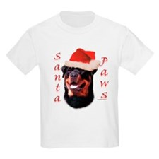 Santa Paws Rottweiler Kids T-Shirt