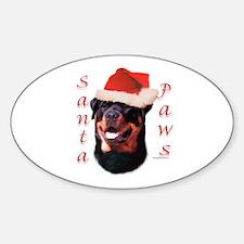 Santa Paws Rottweiler Oval Decal