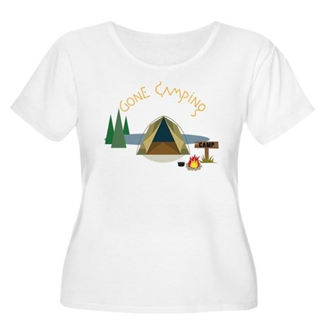 Gone Camping Women's Plus Size Scoop Neck T-Shirt