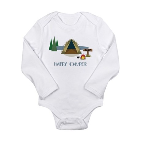 Happy Camper Long Sleeve Infant Bodysuit