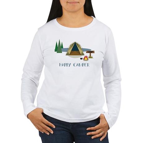Happy Camper Women's Long Sleeve T-Shirt