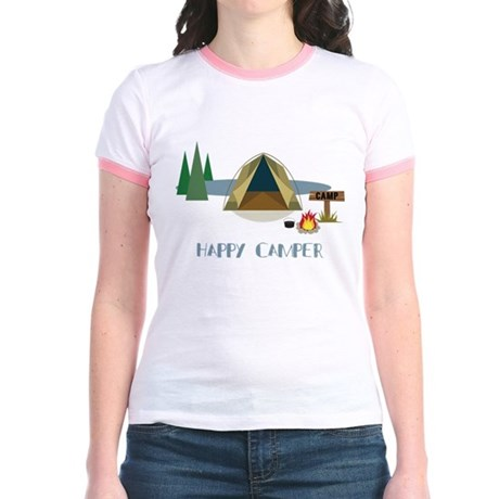 Happy Camper Jr. Ringer T-Shirt