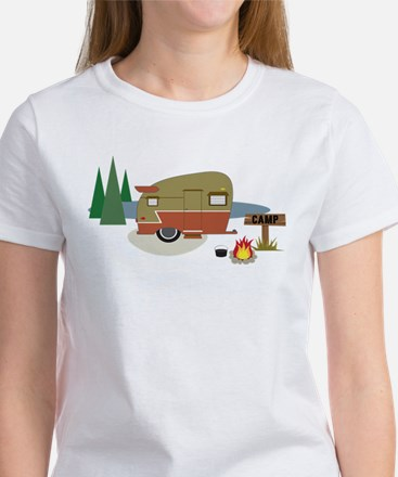 Camping Trailer Women's T-Shirt