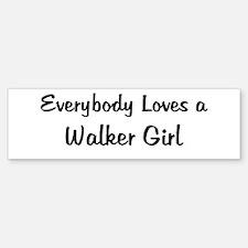 Walker Girl Bumper Bumper Bumper Sticker