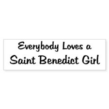 Saint Benedict Girl Bumper Bumper Sticker