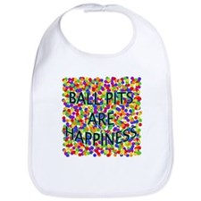 Ball Pits Are Happiness Bib