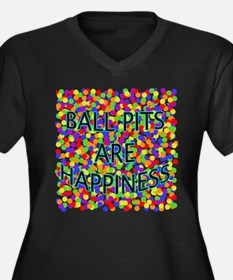 Ball Pits Are Happiness Women's Plus Size V-Neck D