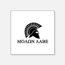"Molon Labe Warrior Square Sticker 3"" x 3"""