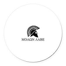 Molon Labe Warrior Round Car Magnet