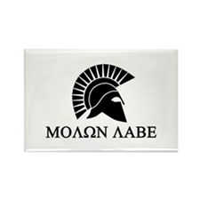 Molon Labe Warrior Rectangle Magnet