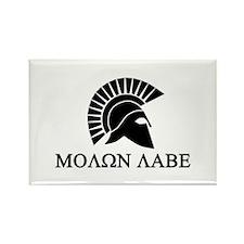 Molon Labe Warrior Rectangle Magnet
