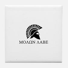 Molon Labe Warrior Tile Coaster