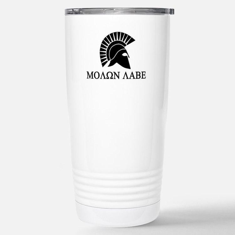 Molon Labe Warrior Travel Mug