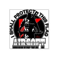 """Protect Flag Airsoft Square Sticker 3"""" x 3"""""""
