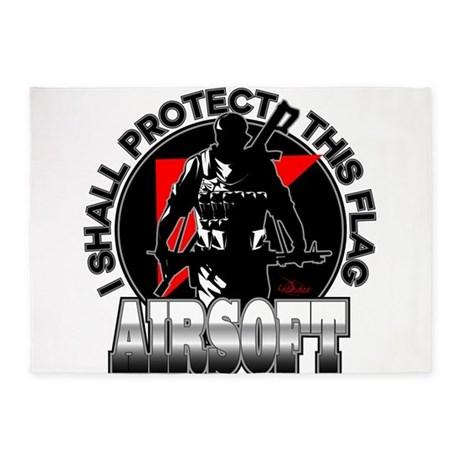 Protect Flag Airsoft 5'x7'Area Rug