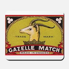 Antique Gazelle Swedish Matchbox Label Mousepad
