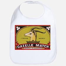 Antique Gazelle Swedish Matchbox Label Bib