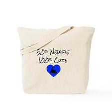 50% Newfie - 100% Cute Tote Bag