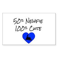 50% Newfie - 100% Cute Bumper Stickers