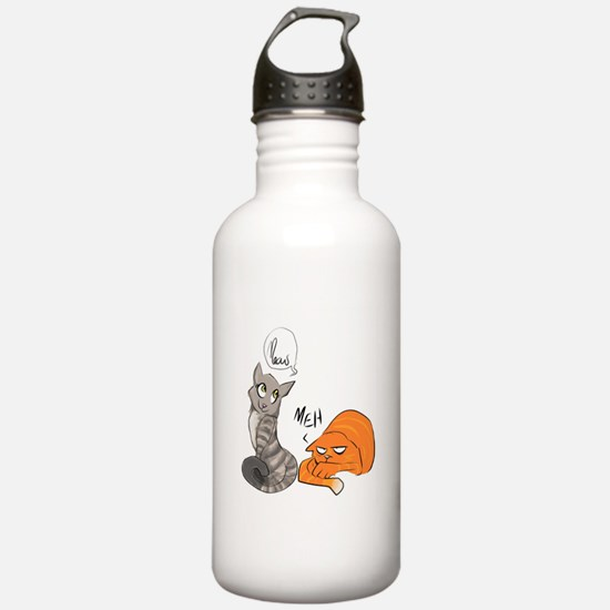 Two Cats Water Bottle