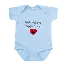 50% Newfie - 100% Cute (pink) Infant Bodysuit
