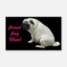 Proud Pug Mom Car Magnet 20 x 12