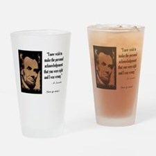 You Were Right and I Was Wrong Drinking Glass