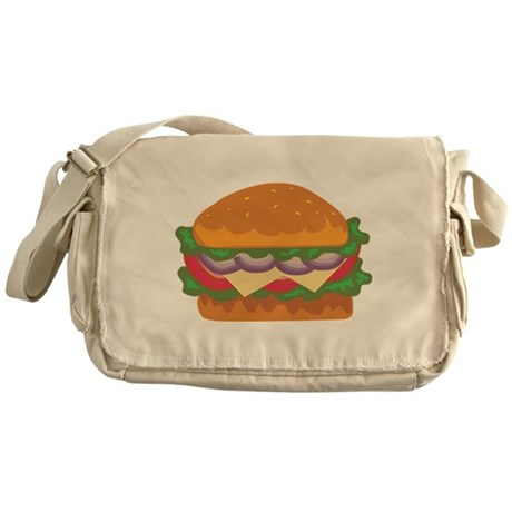 Burger Messenger Bag