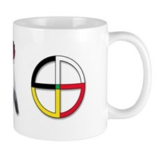 Four Directions Symbol Small Mugs