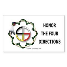 Four Directions Symbol Rectangle Decal